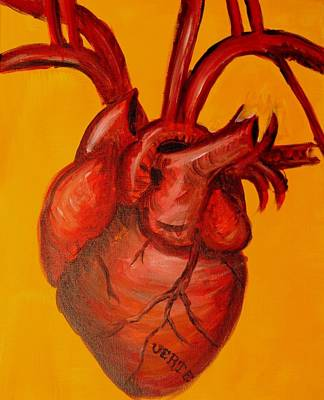 Corrected Painting - Corazon Fuerte by Estella Mendez