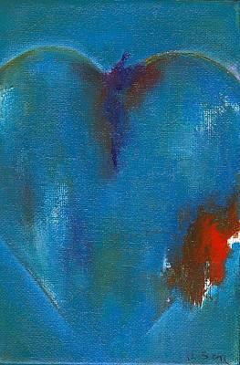 corazones de un Bobo Three Art Print by Ricky Sencion