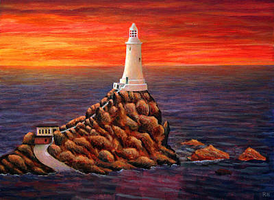 Jersey Painting - Corbiere Lighthouse - Jersey by Ronald Haber