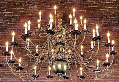 Photograph - Cordage Company Mill No 1 Chandelier by Janice Drew