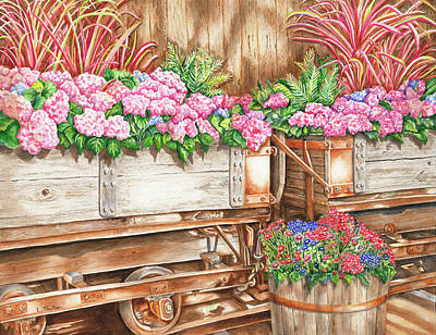 Painting - Cordelia's Train by Lori Taylor
