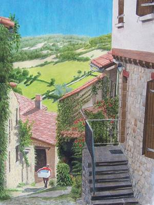 Mixed Media - Cordes Sur Ciel 2 by Constance DRESCHER