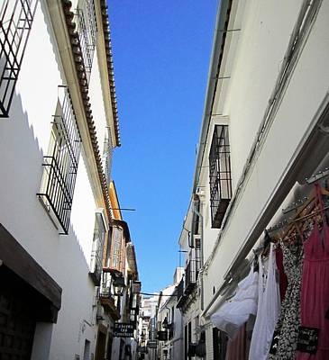 Photograph - Cordoba Ancient Side Street Shops Spain by John Shiron
