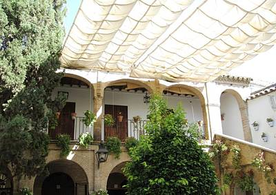 Photograph - Cordoba Arched Brick Balcony Courtyard Spain by John Shiron