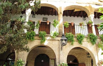 Photograph - Cordoba Arched Brick Balcony Spain by John Shiron
