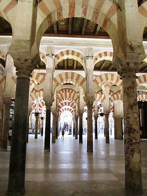 Photograph - Cordoba Cathedral Ancient Columns Spain by John Shiron