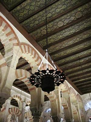 Photograph - Cordoba Cathedral Mesquita Ancient Columns Spain by John Shiron