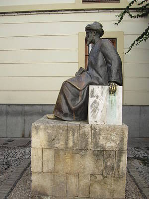 Spanish Synagogue Photograph - Cordoba Maimonides Statue Or Moses Ben Maimon Aka Rambam Jewish Quarter IIi Spain by John Shiron