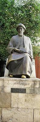 Spanish Synagogue Photograph - Cordoba Maimonides Statue Or Moses Ben Maimon Aka Rambam Jewish Quarter Vi Spain by John Shiron