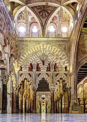 Photograph - Cordoba Mosque Arches by Weston Westmoreland