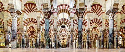 Photograph - Cordoba Mosque Colonnade 01 by Weston Westmoreland