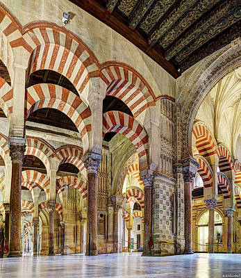 Photograph - Cordoba Mosque Colonnade 03 by Weston Westmoreland
