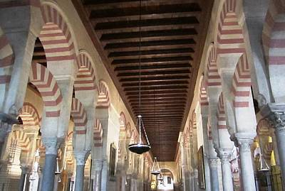 Photograph - Cordoba Mosque Columns Andalusia Spain by John Shiron