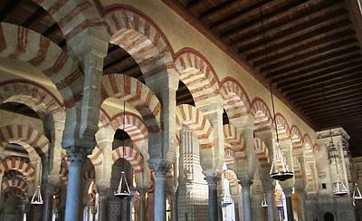 Photograph - Cordoba Mosque Columns IIi Andalusia Spain by John Shiron