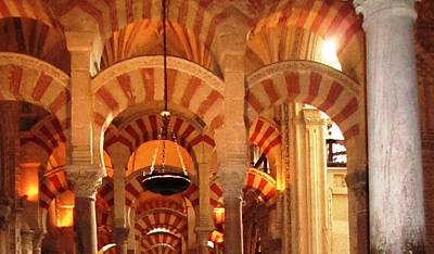 Photograph - Cordoba Mosque Columns V Andalusia Spain by John Shiron