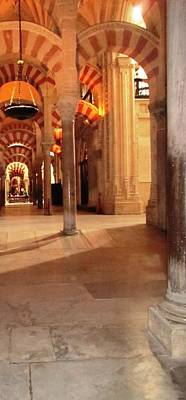 Photograph - Cordoba Mosque Columns Vi Andalusia Spain by John Shiron