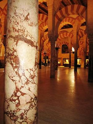 Photograph - Cordoba Mosque Columns Vii Andalusia Spain by John Shiron