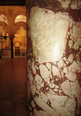 Photograph - Cordoba Mosque Columns Viii Andalusia Spain by John Shiron