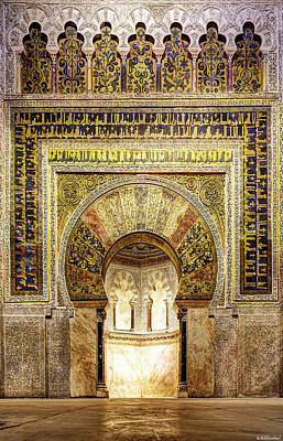 Photograph - Cordoba Mosque Mihrab 02 by Weston Westmoreland