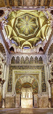 Photograph - Cordoba Mosque Mihrab And Dome by Weston Westmoreland