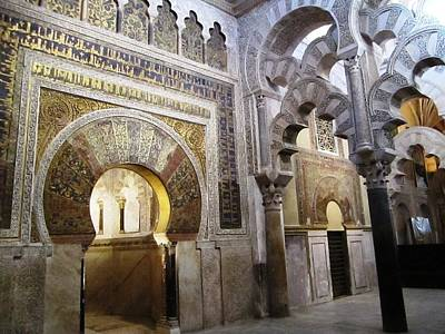 Photograph - Cordoba Mosque To Cathedral Ancient Columns Spain by John Shiron