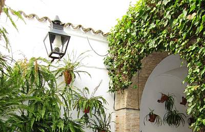 Photograph - Cordoba Old Village Courtyard Arch Spain by John Shiron