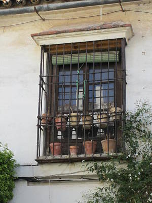 Photograph - Cordoba Pots In The Window Spain by John Shiron