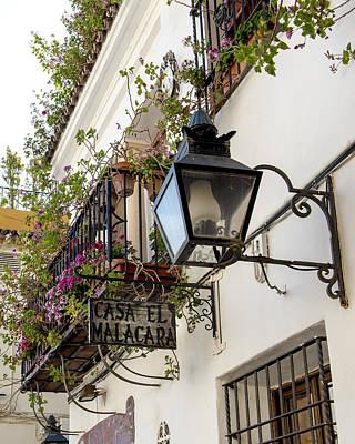 Jewish Heritage Photograph - Casa El Malacara - Jewish Quarter - Cordoba Spain by Jon Berghoff