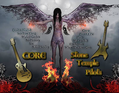 Stone Temple Pilots Digital Art - Core by Michael Damiani