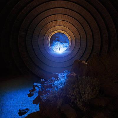 Light Blue Photograph - Core by Michal Karcz