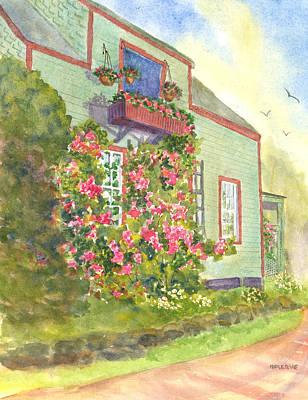 Painting - Corena On Monhegan Island Maine  by Roseann Meserve