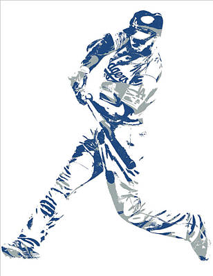 Los Angeles Dodgers Mixed Media - Corey Seager Los Angeles Dodgers Pixel Art 10 by Joe Hamilton