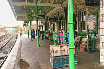 Photograph - Corfe Railway Station by Phyllis Taylor