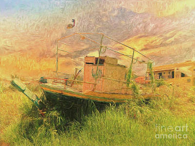 Art Print featuring the photograph Corfu 25 High And Dry by Leigh Kemp