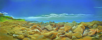 Art Print featuring the photograph Corfu 3 - Surreal Rocks by Leigh Kemp