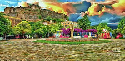 Photograph - Corfu 32 - Near The Fortress by Leigh Kemp