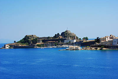 Photograph - Corfu Fortress On Blue Water by Robert Moss