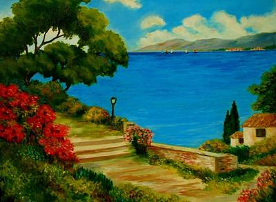 Painting - Corfu-greece by Constantinos Charalampopoulos