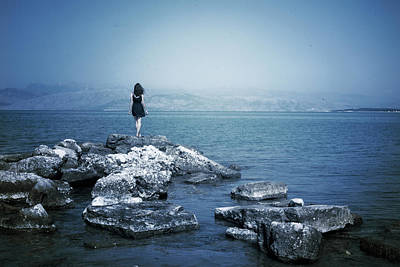 Waiting Girl Photograph - Corfu - Greece by Cambion Art