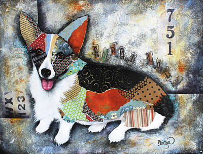 Mixed Media - Corgi 2 by Patricia Lintner
