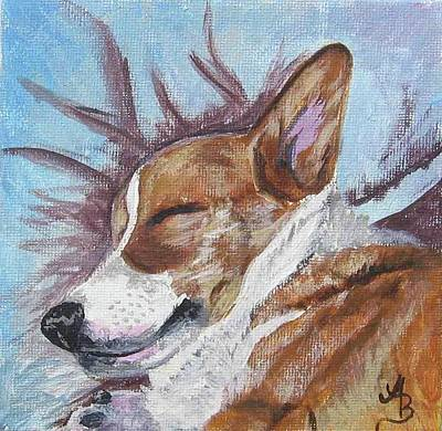 Painting - Corgi Dreams by Ann Becker