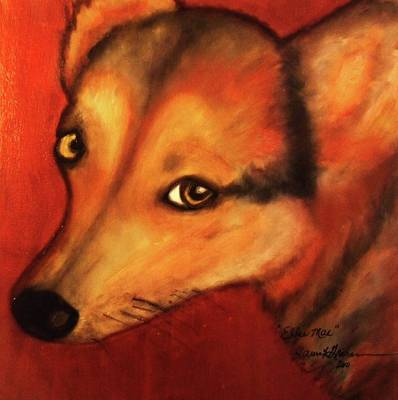 Painting - Corgi- Ellie Mae by Laura  Grisham