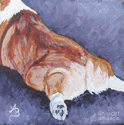 Painting - Corgi Rear Purple by Ann Becker