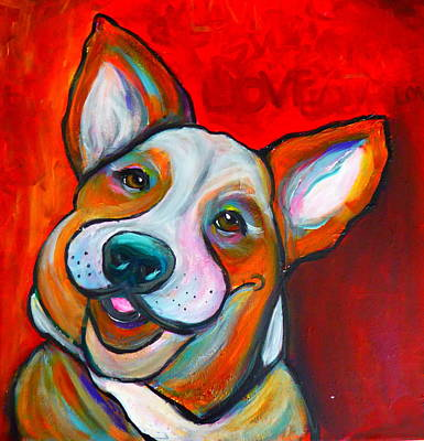 Corgy - Original $1500 Art Print by Dianka Pocop