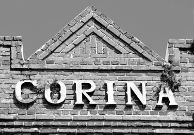Cigar Factory Photograph - Corina Cigar Factory Sign by David Lee Thompson