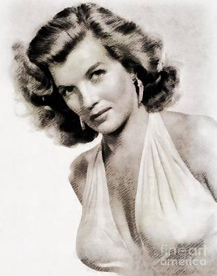 Corinne Calvet, Vintage Actress Art Print by John Springfield