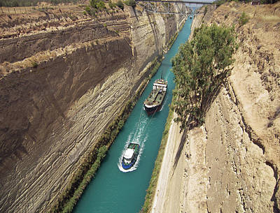 Photograph - Corinth Canal by Ellen Henneke