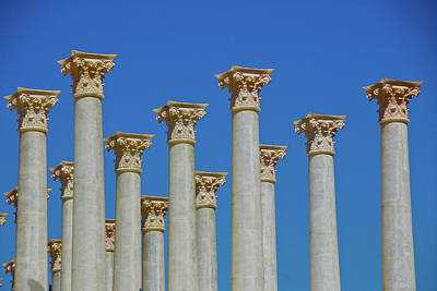 Photograph - Corinthian Columns  by Harry Spitz
