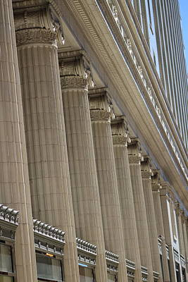 Photograph - Corinthian Columns Of Union Station Chicago by Colleen Cornelius