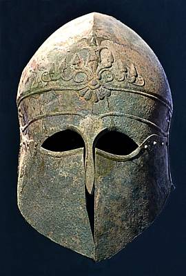 Photograph - Corinthian Helmet by Nadalyn Larsen